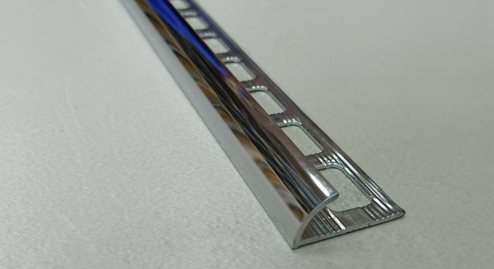 Профиль латунный наружный НЛП-10 (Латунь хромированная)