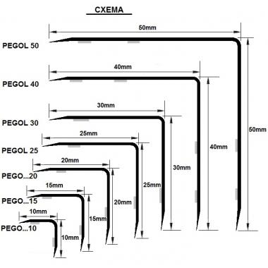 Угол латунный Progress Profiles PEGOL 40 (Латунь полированная)