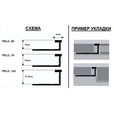 Профиль латунный Progress Profiles PELOL 08 (Латунь сатинированная)