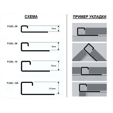 Профиль латунный П-образный Progress Profiles PJQOC 125 (Латунь хромированная)