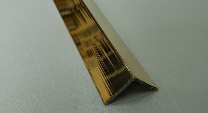 Угол латунный ПЛ-15*15 (Латунь полированная)