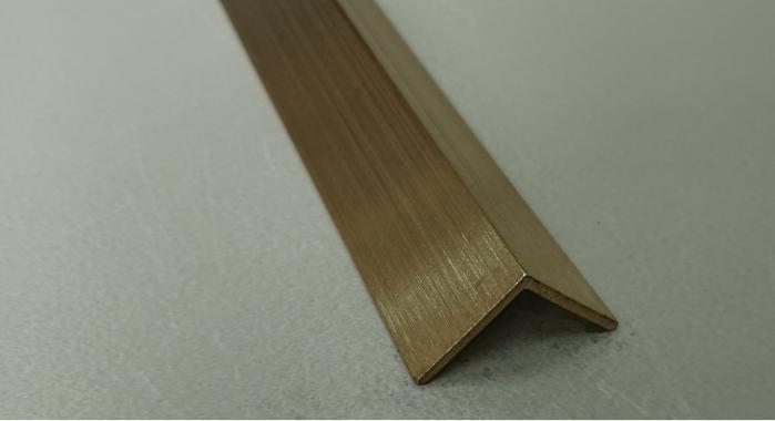 Угол латунный ПЛ-25*25 (Латунь шлифованная)