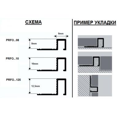 Профиль латунный П-образный Progress Profiles PRFOL 125 (Латунь сатинированная)