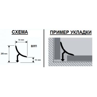 Профиль латунный внутренний ВЛП (Латунь шлифованная)
