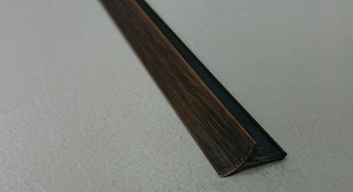 Профиль латунный внутренний ВЛП (Латунь патинированная)