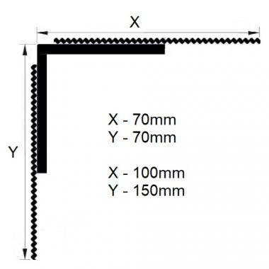Профиль штукатурный угловой с сеткой PST-G 70*70