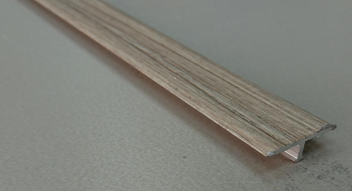Профиль Т-образный ламинированный АЛТ-20 (Дуб беленый серый)