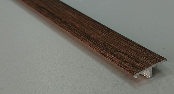 Профиль Т-образный ламинированный АЛТ-20 (Дуб мокко)