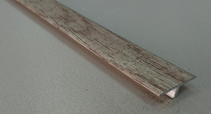 Профиль Т-образный ламинированный АЛТ-20 (Дуб дымчатый)