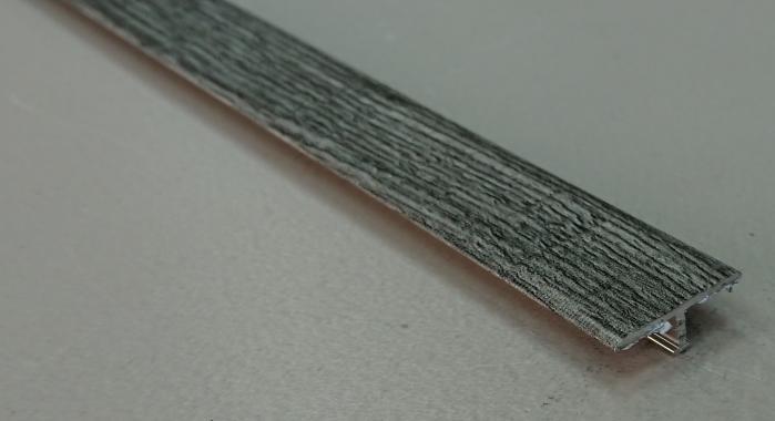 Профиль Т-образный ламинированный АЛТ-26 (Дуб графитовый)