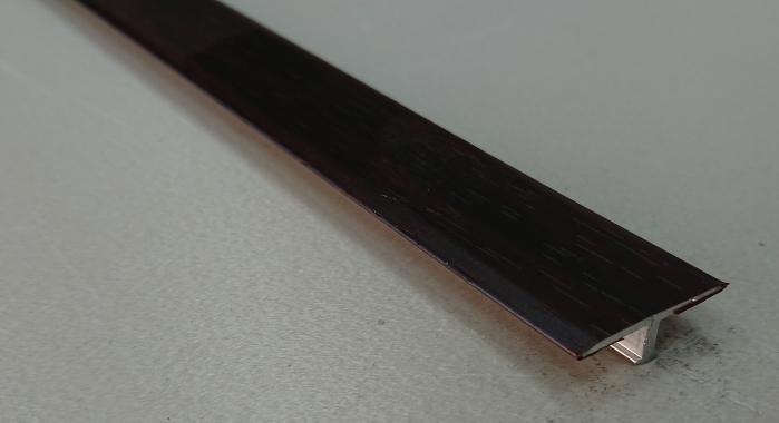 Профиль Т-образный ламинированный АЛТ-26 (Махагон)