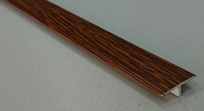 Профиль Т-образный ламинированный АЛТ-20 (Орех миланский)