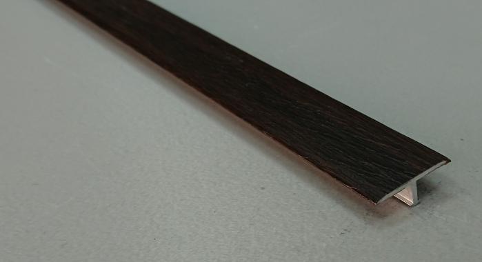 Профиль Т-образный ламинированный АЛТ-20 (Орех темный)