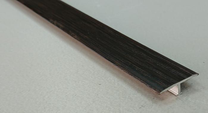Профиль Т-образный ламинированный АЛТ-26 (Венге)