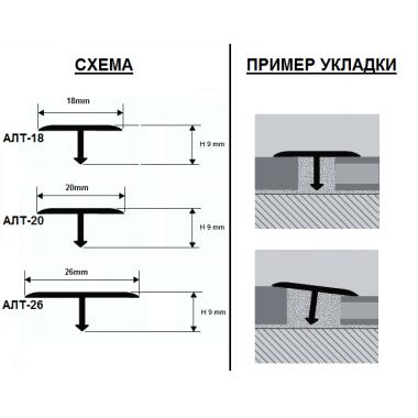 Профиль Т-образный ламинированный АЛТ-20 (Мербау)