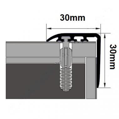 Порог ламинированный угловой MYCK D-K0200-6E Каштан