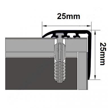 Порог ламинированный угловой MYCK D-K0300-0P Венге