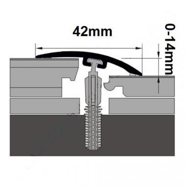 Порог ламинированный универсальный MYCK D-P0200-7E Махагон