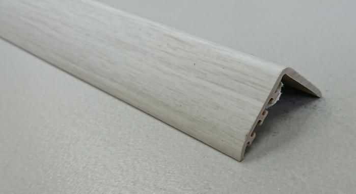 Порог ламинированный угловой MYCK D-K0200-6P Дуб белый